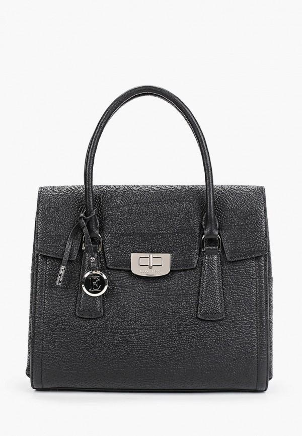 женская сумка с ручками eleganzza, черная