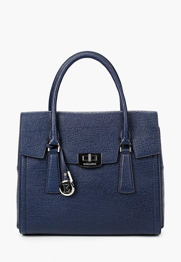 женская сумка с ручками eleganzza, синяя