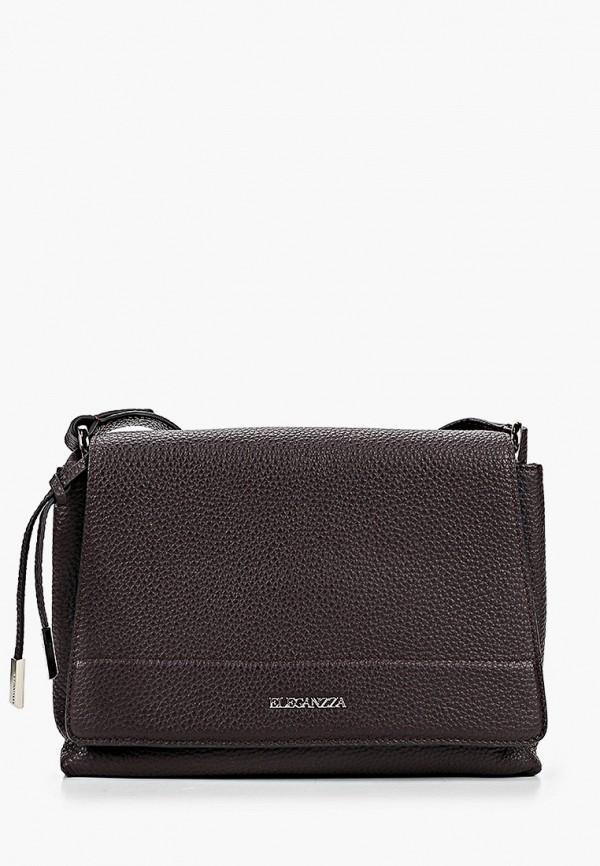 женская сумка через плечо eleganzza, коричневая