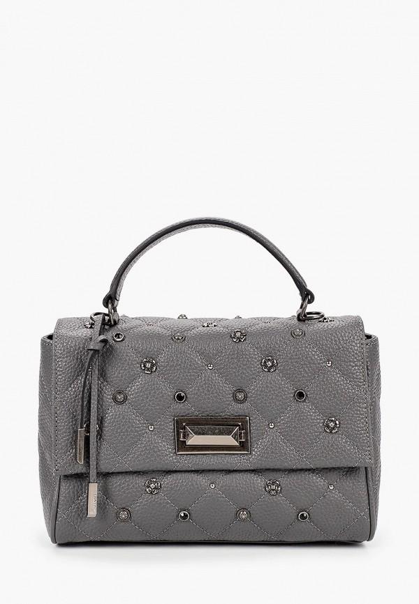 женская сумка через плечо eleganzza, серая