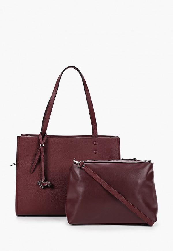 женская сумка с ручками labbra, бордовая