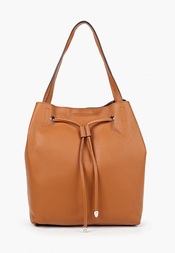 женская сумка с ручками labbra, коричневая
