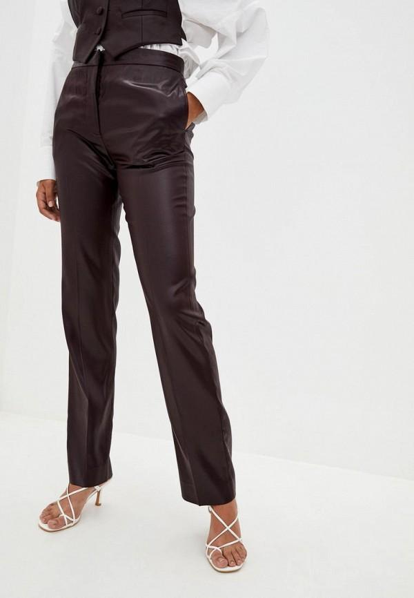 женские брюки frankie morello, коричневые