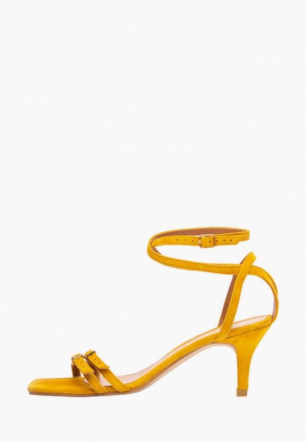 женские босоножки lookie, желтые
