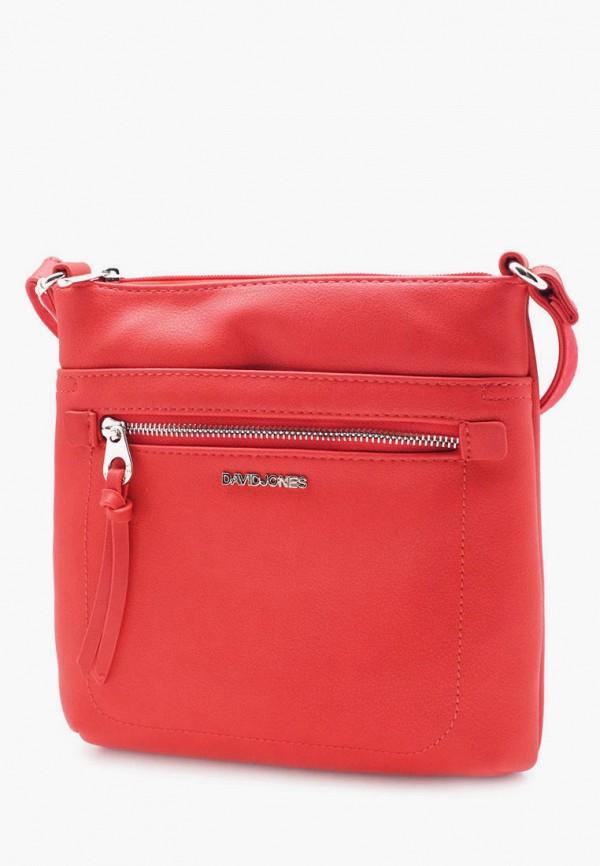 женская сумка david jones, красная