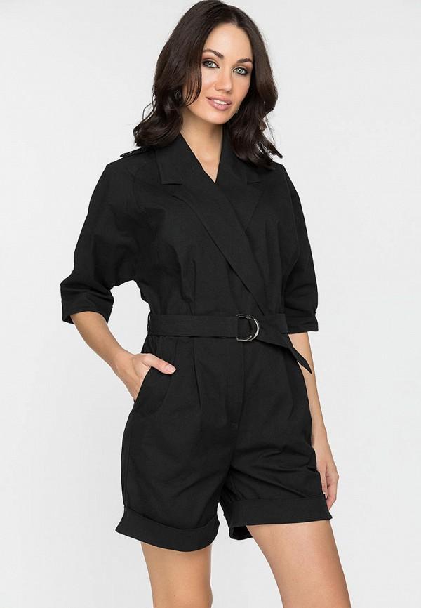женский комбинезон с шортами gloss, черный