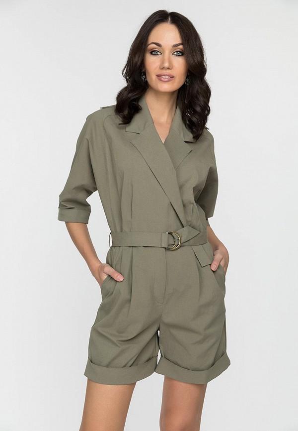 женский комбинезон с шортами gloss, хаки