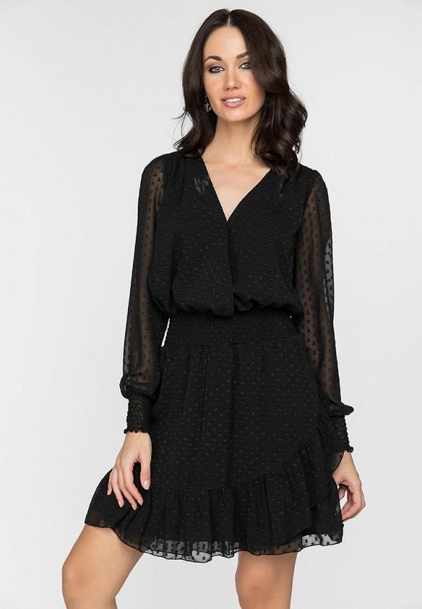 женское повседневные платье gloss, черное