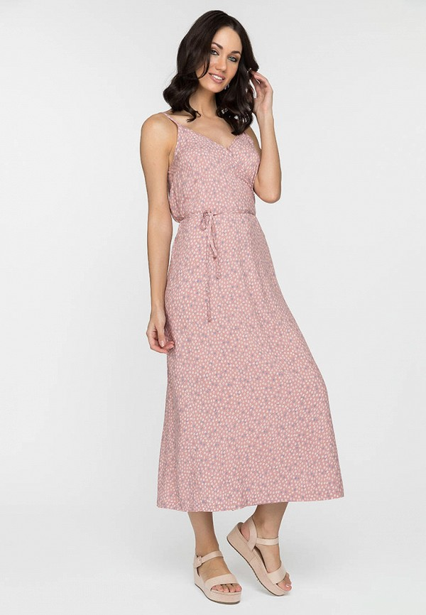 женское платье с запахом gloss, розовое