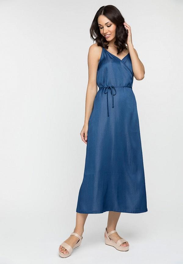 женское платье с запахом gloss, синее