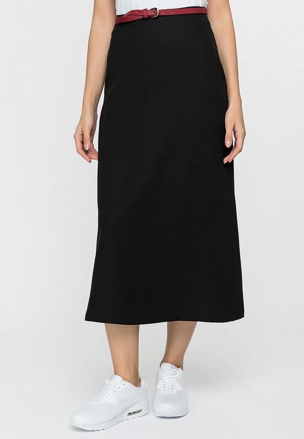 женская юбка-трапеции gloss, черная