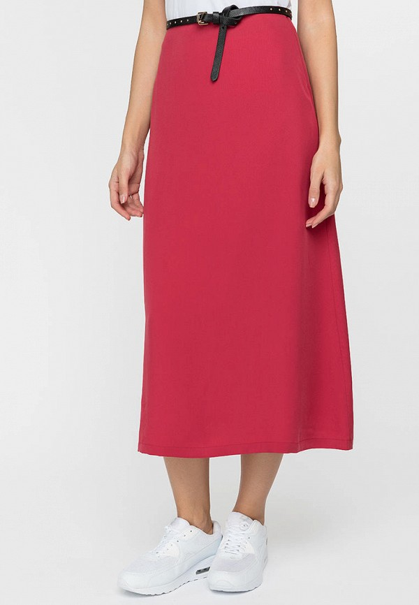 женская юбка-трапеции gloss, красная