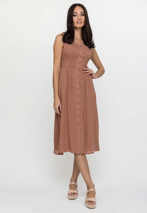 женский сарафан gloss, коричневый