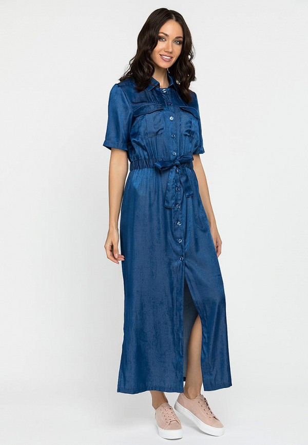женское платье-рубашки gloss, синее