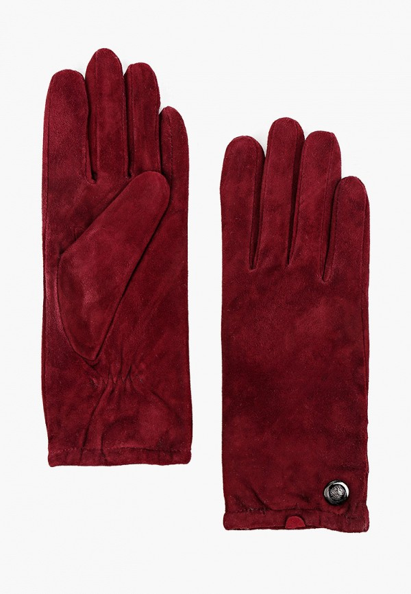 женские кожаные перчатки vitacci, бордовые