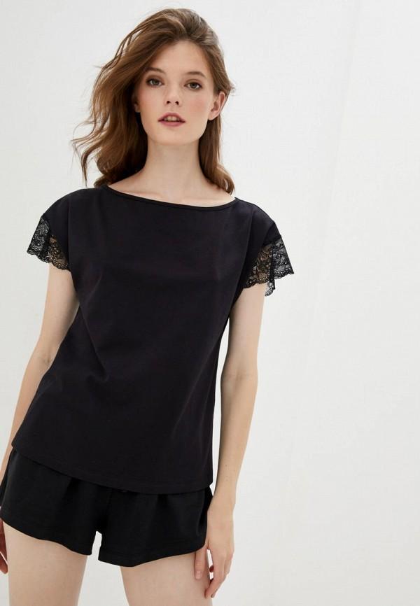 женская футболка arefeva, черная