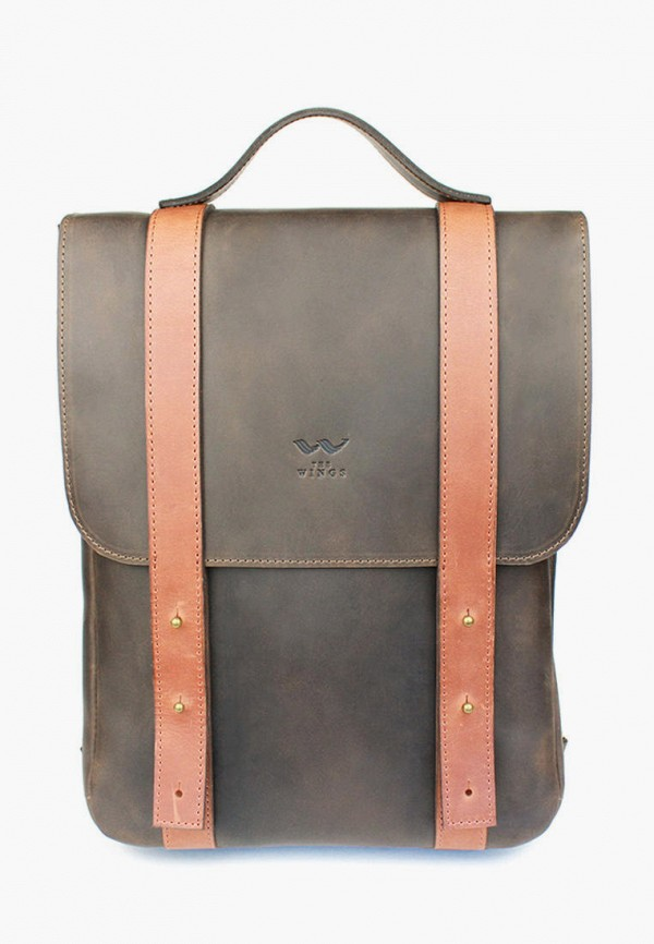 женский рюкзак the wings, коричневый