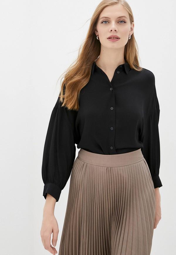 женская блузка с длинным рукавом zarina, черная