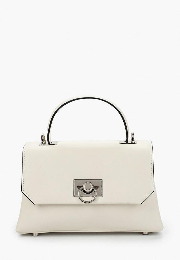 женская сумка с ручками labbra, белая