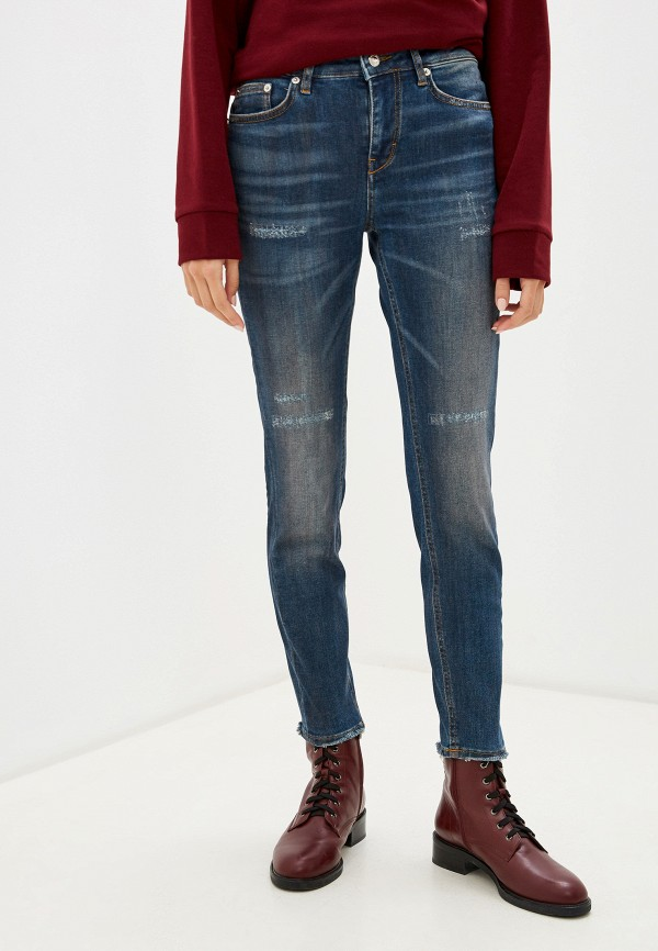 женские джинсы скинни drykorn, синие