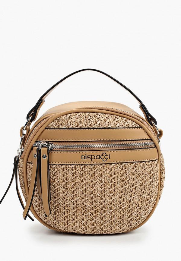женская сумка через плечо dispacci, бежевая