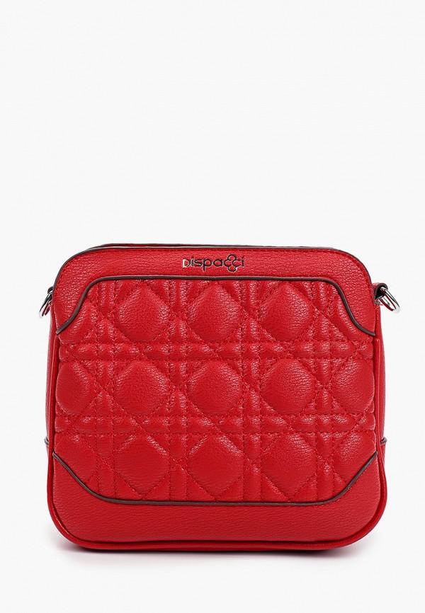 женская сумка через плечо dispacci, красная