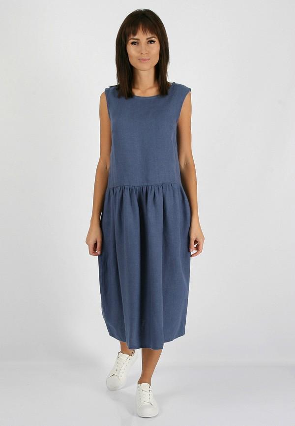 женское повседневные платье morandi, синее
