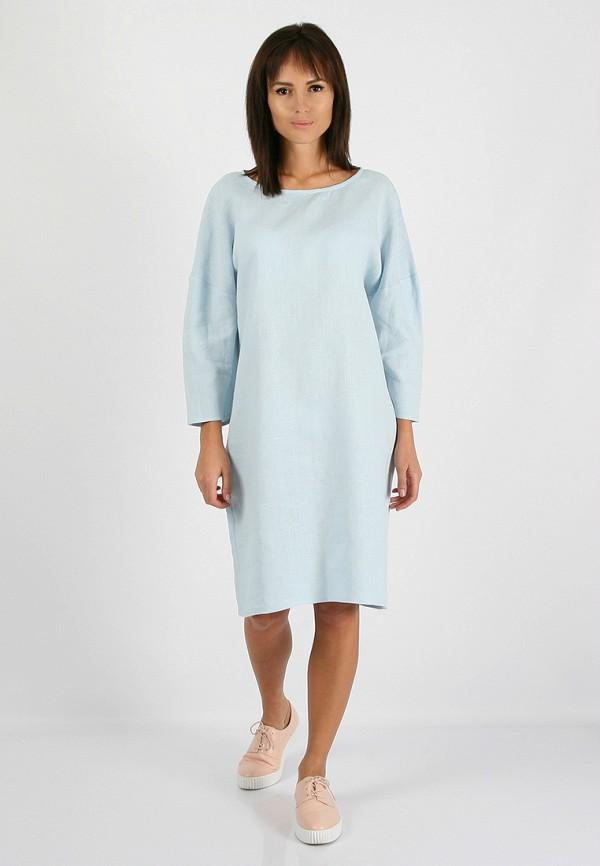 женское повседневные платье morandi, голубое