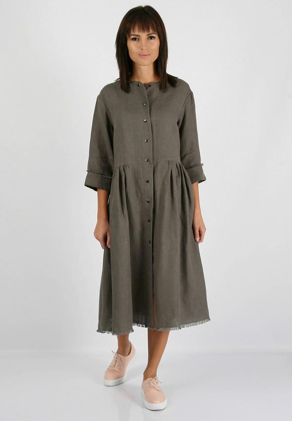 женское повседневные платье morandi, серое