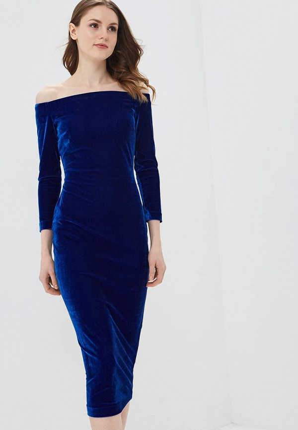 женское повседневные платье ruxara, синее