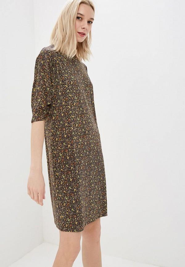 женское повседневные платье ruxara, коричневое