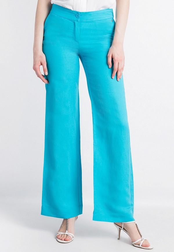 женские брюки клеш finn flare, бирюзовые