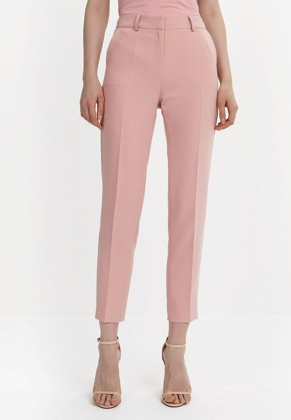 женские зауженные брюки audrey right, розовые