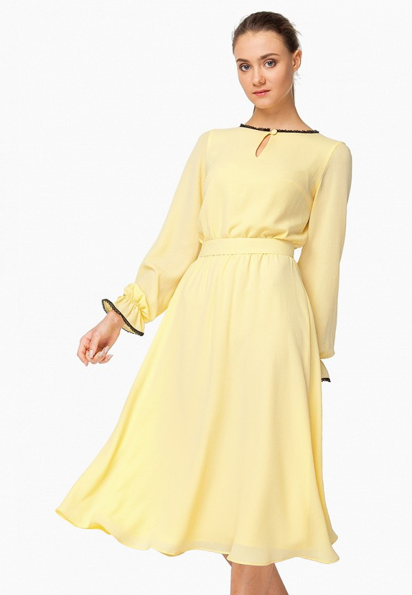 женское вечерние платье nai lu-na by anastasia ivanova, желтое