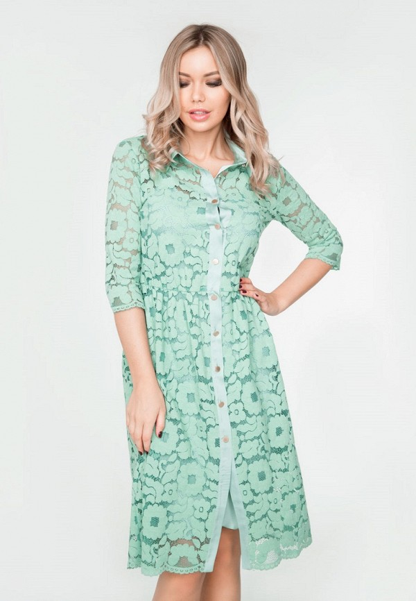 Купить Платье SoloU, mp002xw15hul, зеленый, Весна-лето 2018