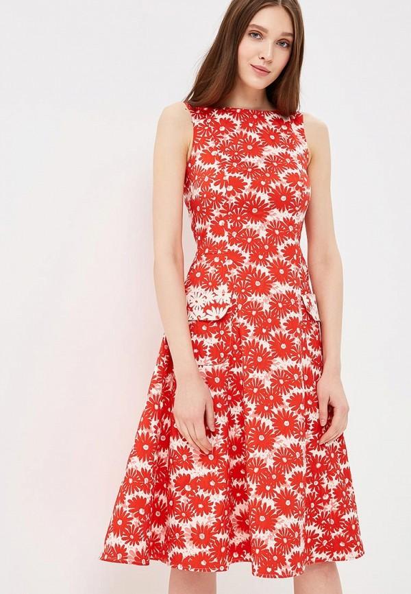 Фото - Женское платье Galina Vasilyeva красного цвета