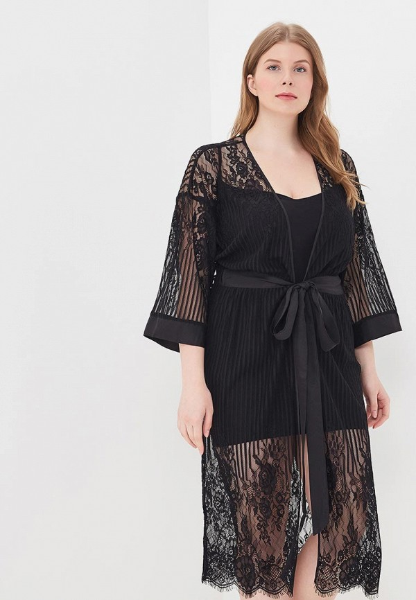 Купить Халат домашний Mia-Mia, mp002xw15ij2, черный, Весна-лето 2018