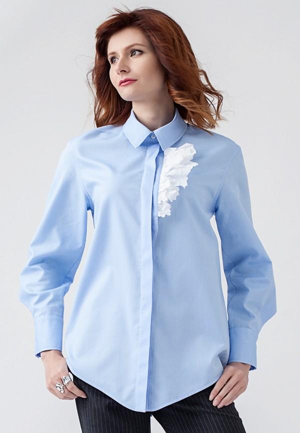 женская рубашка с длинным рукавом strygina, голубая