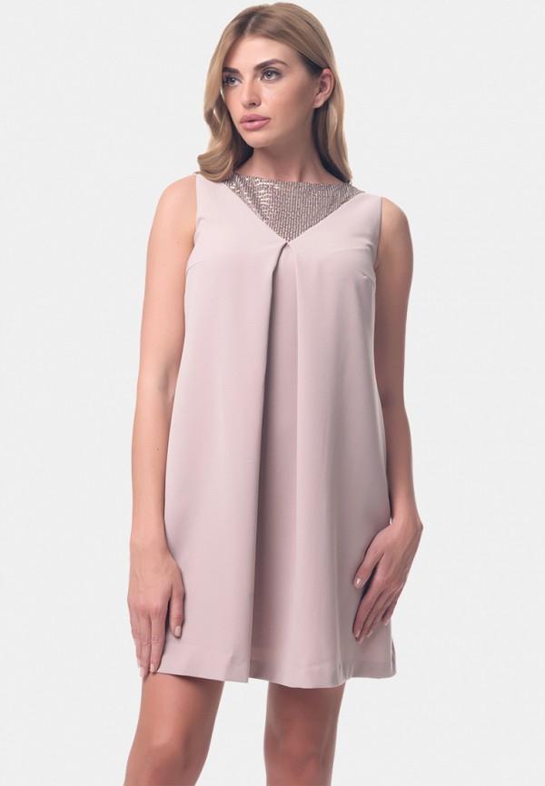 женское платье мини arefeva, бежевое