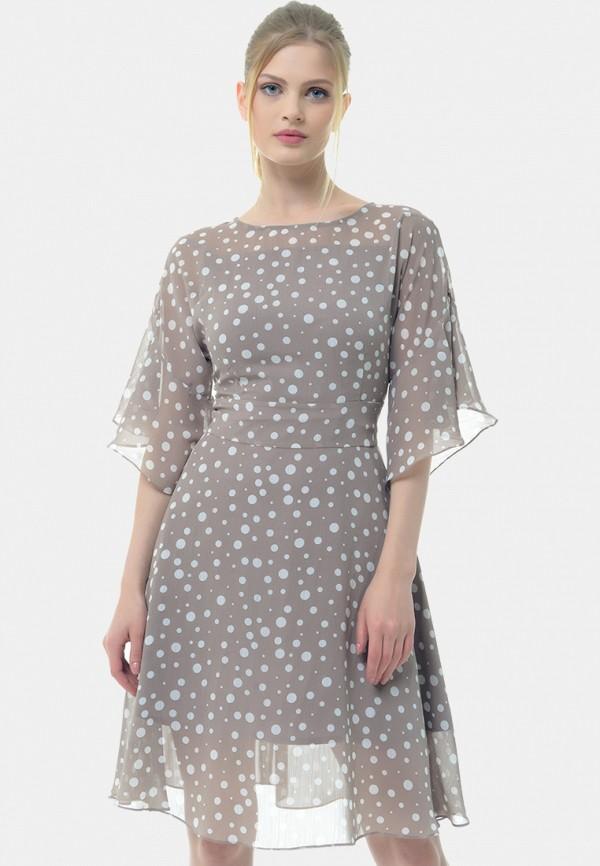 женское платье миди arefeva, серое