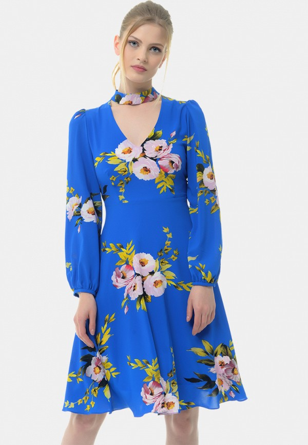 женское платье миди arefeva, синее