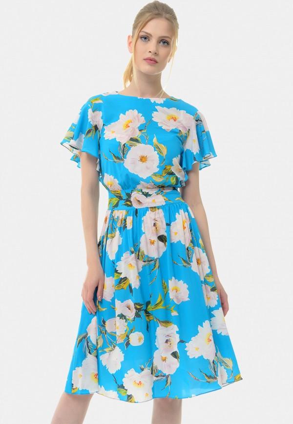 женское платье миди arefeva, голубое