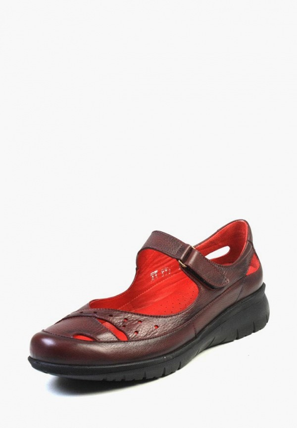 женские туфли airbox, бордовые