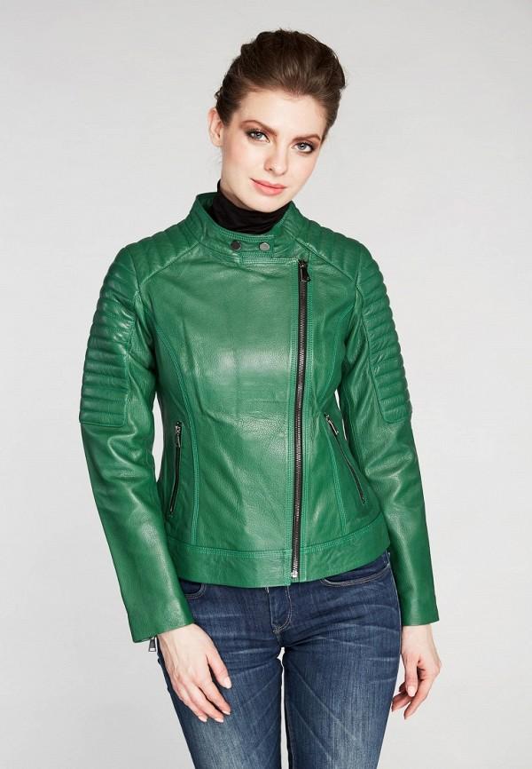 Купить Куртка кожаная Mondial, mp002xw15iqj, зеленый, Весна-лето 2018