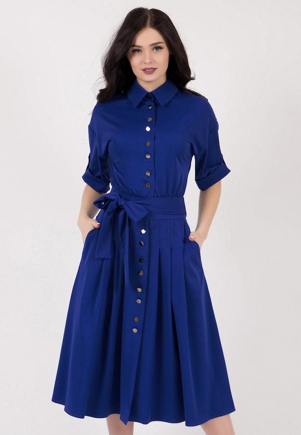 женское повседневные платье grey cat, синее