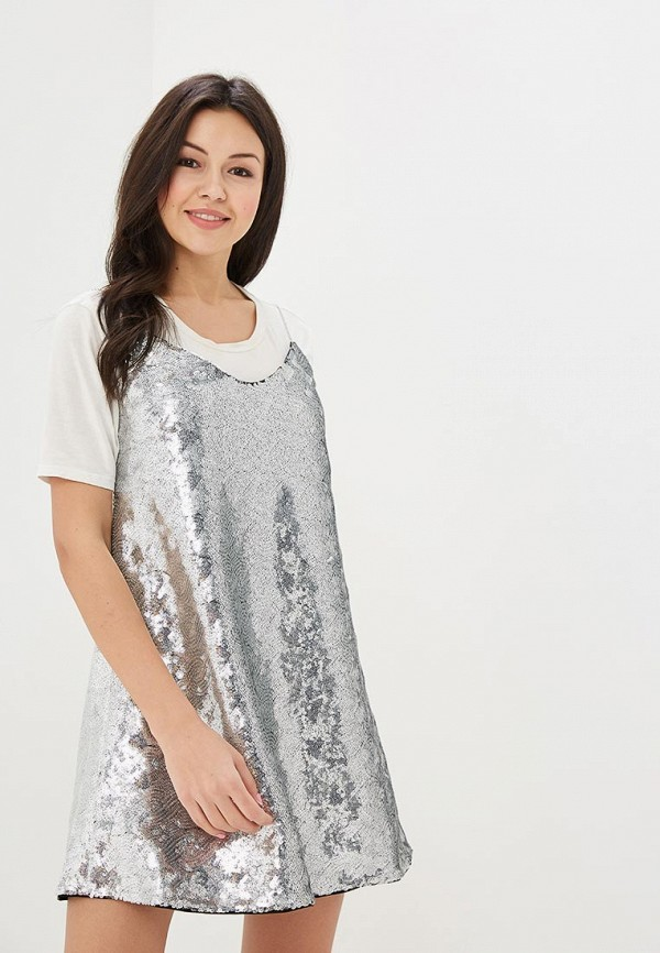 Купить Платье Ruxara, mp002xw15j4r, серебряный, Весна-лето 2018