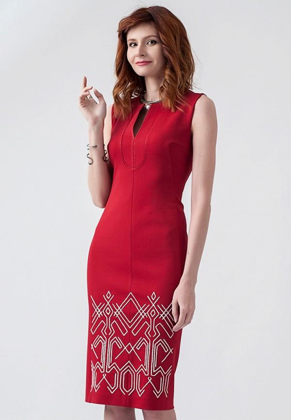 женское повседневные платье strygina, красное