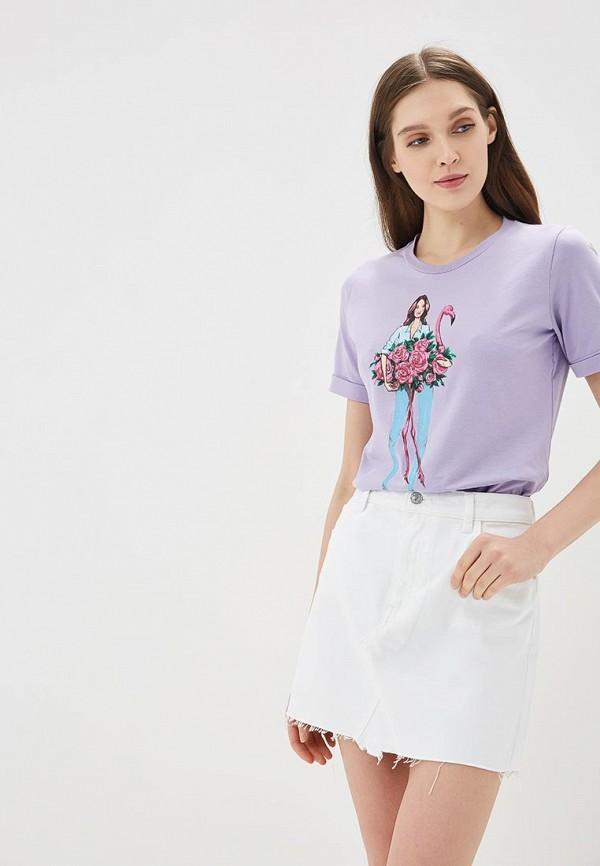 Купить Футболка Fashion.Love.Story, mp002xw15jch, фиолетовый, Весна-лето 2018