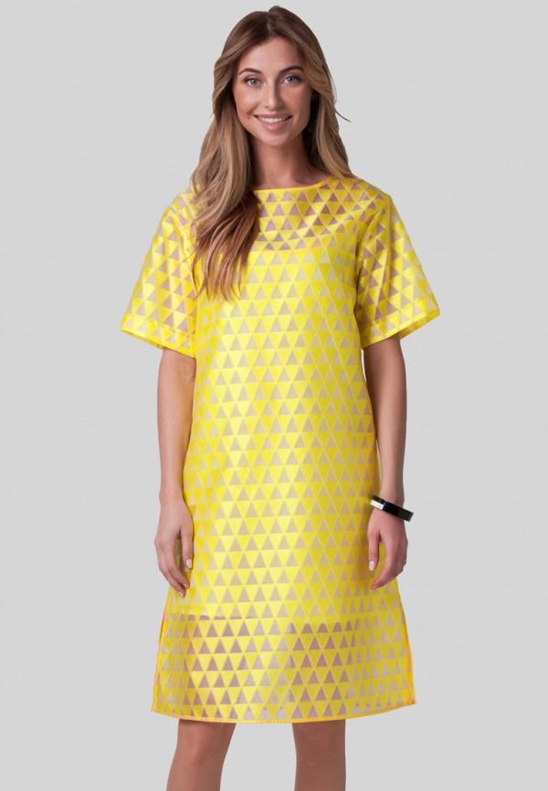 женское повседневные платье olga skazkina, желтое