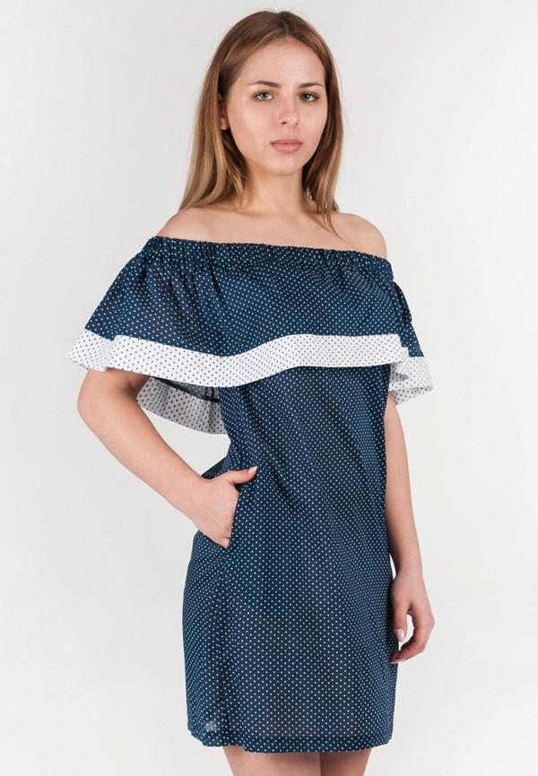 женское платье мини vergans, синее